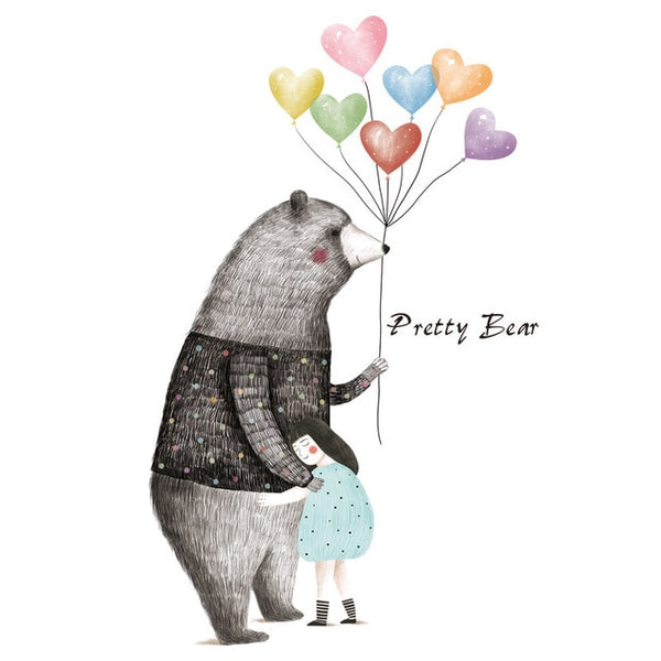 Pretty Bear Wall Sticker