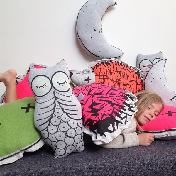 Glow in The Dark Owl Cushion