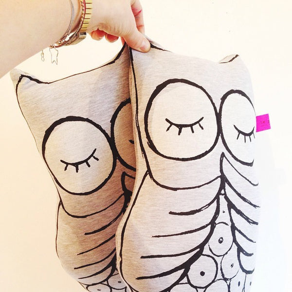 Glow in the Dark Owl Cushion - Kids Pillow - Just Kidding Store