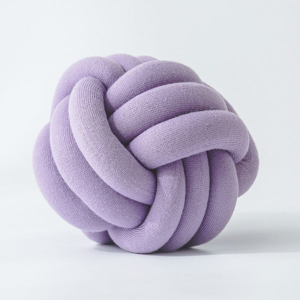 Handmade Lilac Purple Knot Jersey Pillow - Just Kidding Store