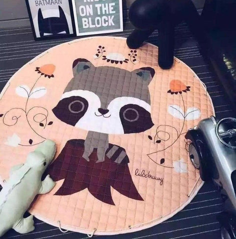 Raccoon Antislip Kids Activity Playmat Toy Storage - Just Kidding Store