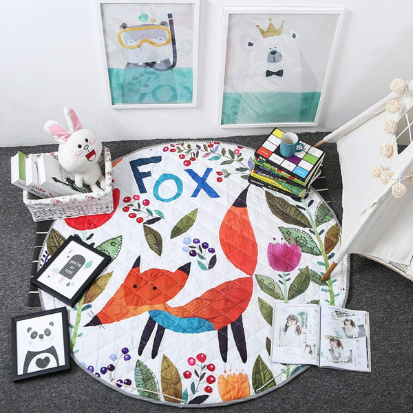 Activity Play Mat Kids Toy Storage Bag - Red Fox - Just Kidding Store