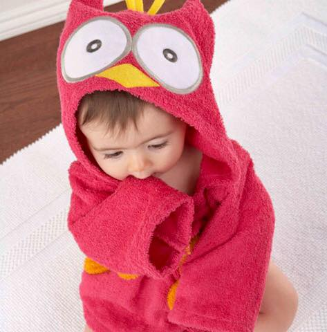 Red Owl baby bathrobe - Just Kidding Store