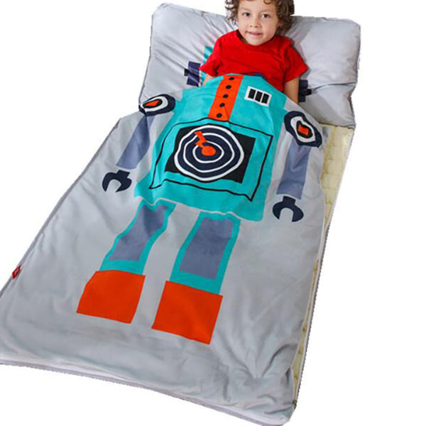 Big Robot Sleeping Envelope - Kids Sleeping Bag With Pillow