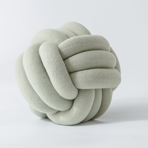 Handmade Sand Beige Knot Jersey Pillow - Just Kidding Store