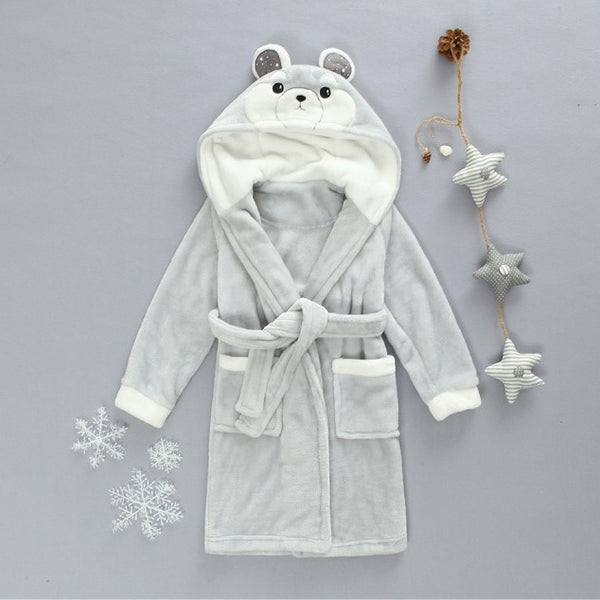Silver Bear babies and kids bathrobes - Just Kidding