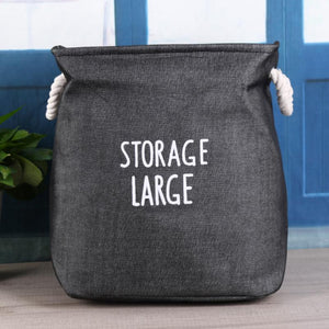 Storage Large Canvas Storage Basket Kids Hamper - Just Kidding Store