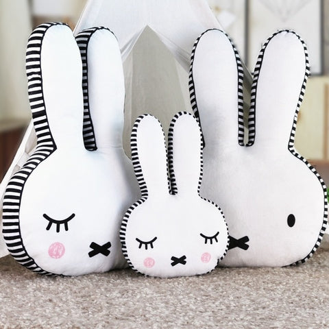 Sleepy Miffy Pillow - Kawaii Bunny Cushion- Just Kidding Store