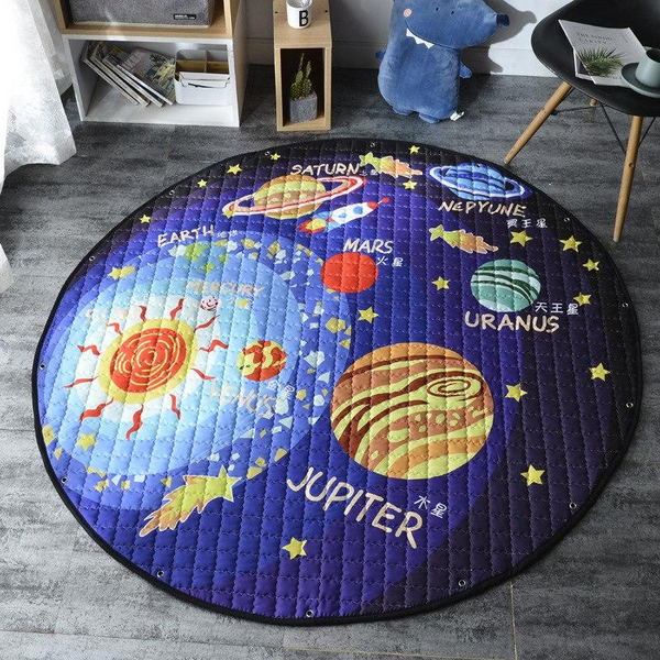 Activity Antislip Baby Kids Play Mat - Toy Storage - Solar System - Just Kidding Store