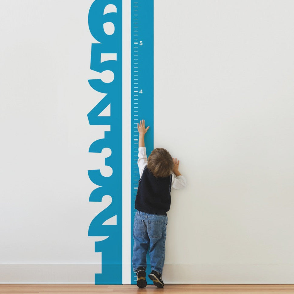 Big Numbers Growth Chart Decal Kids Height Chart Vinyl Just Kidding Store