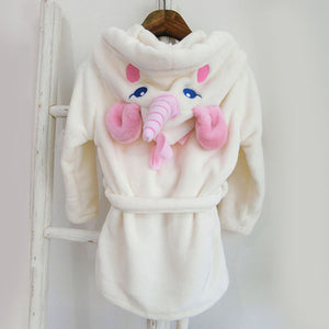 Ultra Soft Velvet Bathrobe Nightgown - Unicorn - Just Kidding Store