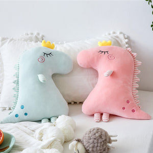 Dinosaur Plush Pillow - Stuffed Cushion - Just Kidding Store
