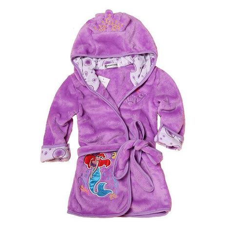 Violet Princess Ariel Mermaid kids bathrobe night gown - Just Kidding Store
