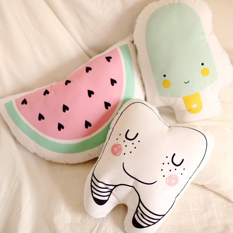 Watermelon Pillow - Fruit Cushion - Just Kidding Store