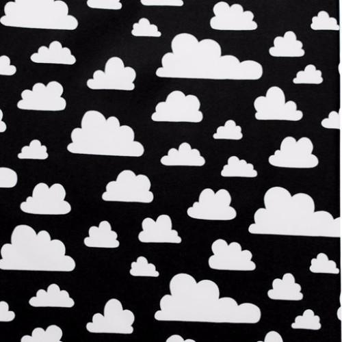 Monochrome White Clouds Cotton Knitted Blanket - Just Kidding Store