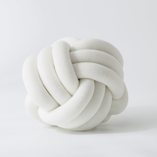Handmade White Knot Jersey Pillow - Just Kidding Store
