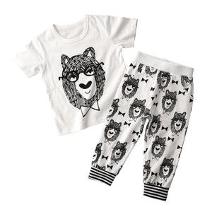 Wolf Toddlers and Kids Summer Pajama Set - Just Kidding Store