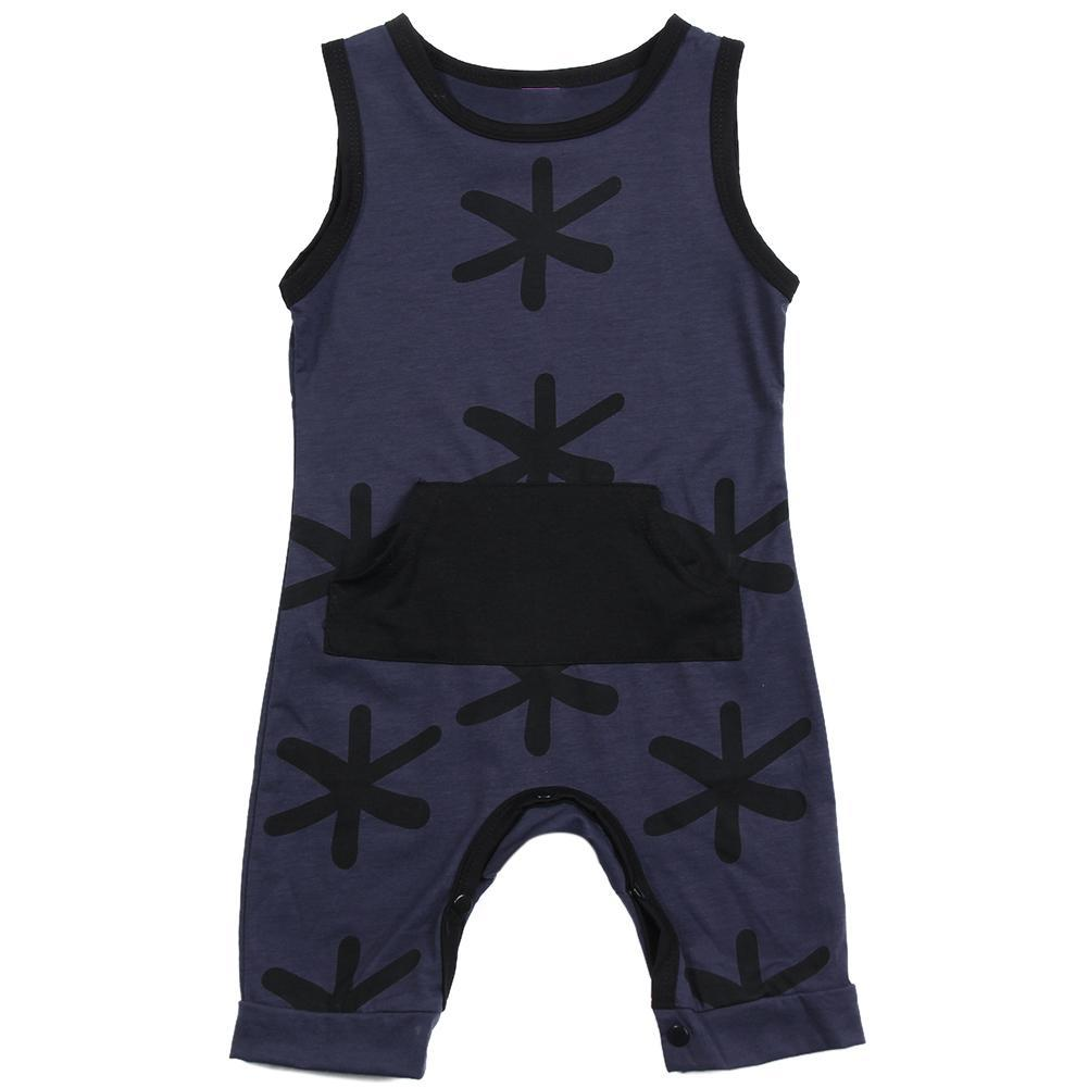 Baby and Toddlers Fashion Sleeveless Pocket Romper - Just Kidding Store