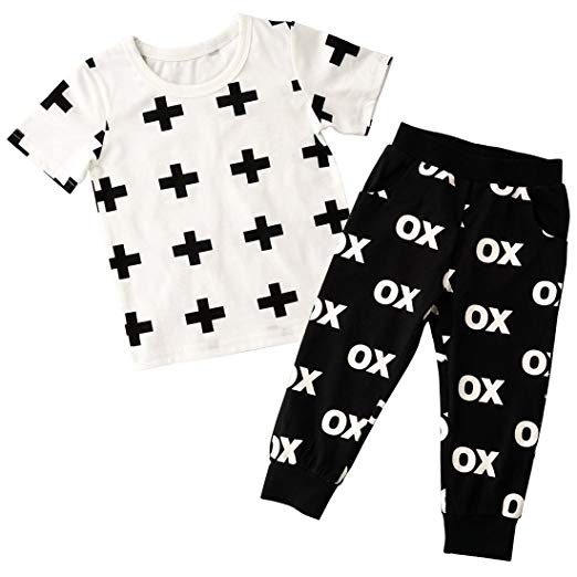 Trendy Cross XO Toddlers and Kids Pajama Set - Just Kidding Store