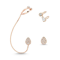 Stella Ear Cuff Earrings Set in 18K Rose Gold Plating
