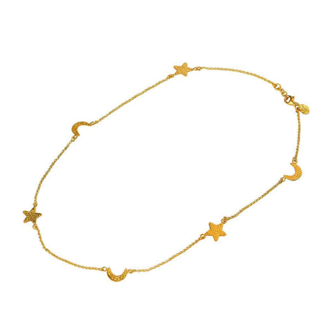 24kt Gold Plated Sterling Silver Sky Necklace