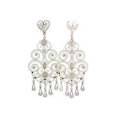 Chandelier Silver Filigree Earrings