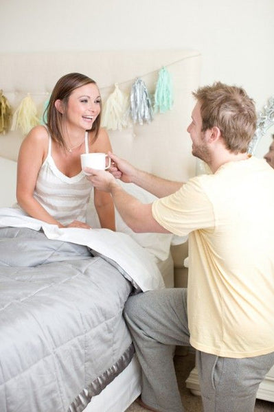 Proposal in bed