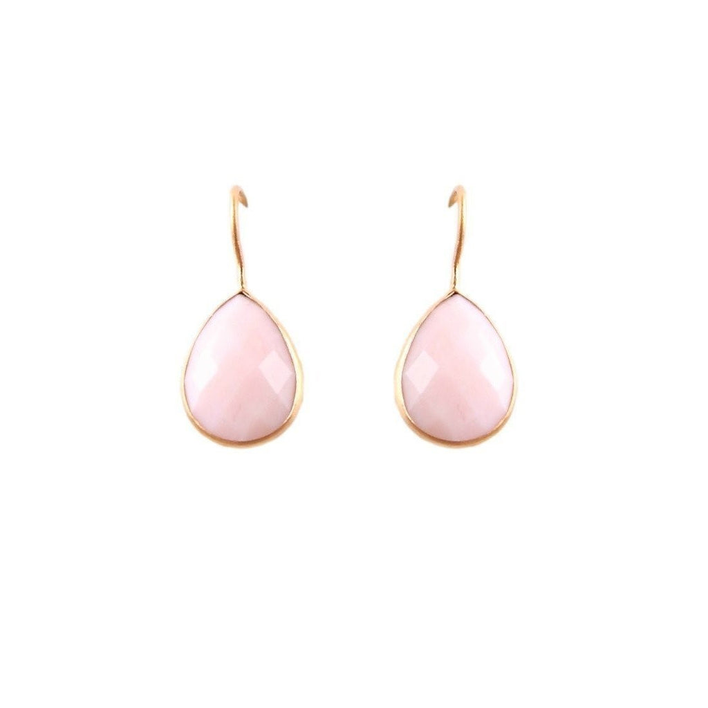 Pink Opal Raindrop Earrings by Willow and Clo