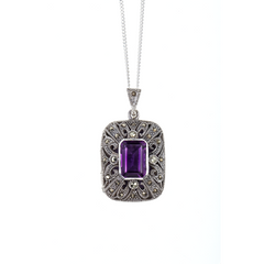Amethyst Locket