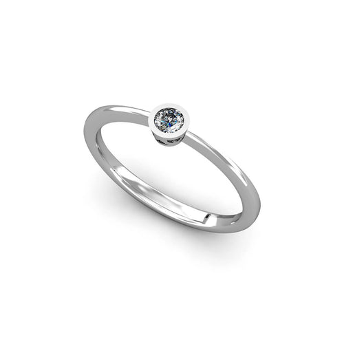 18kt White Gold Solitaire Ring 0,10 ct I ,[product vendor],JewelStreet