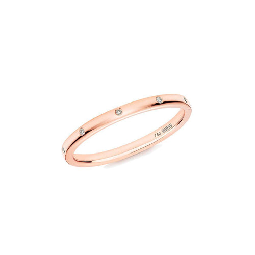 10 Stone XV Diamond Ring In 18kt Rose Gold ,[product vendor],JewelStreet