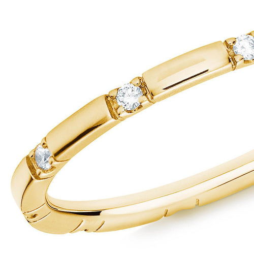 10 Stone Diamond Ring In 18kt Yellow Gold ,[product vendor],JewelStreet
