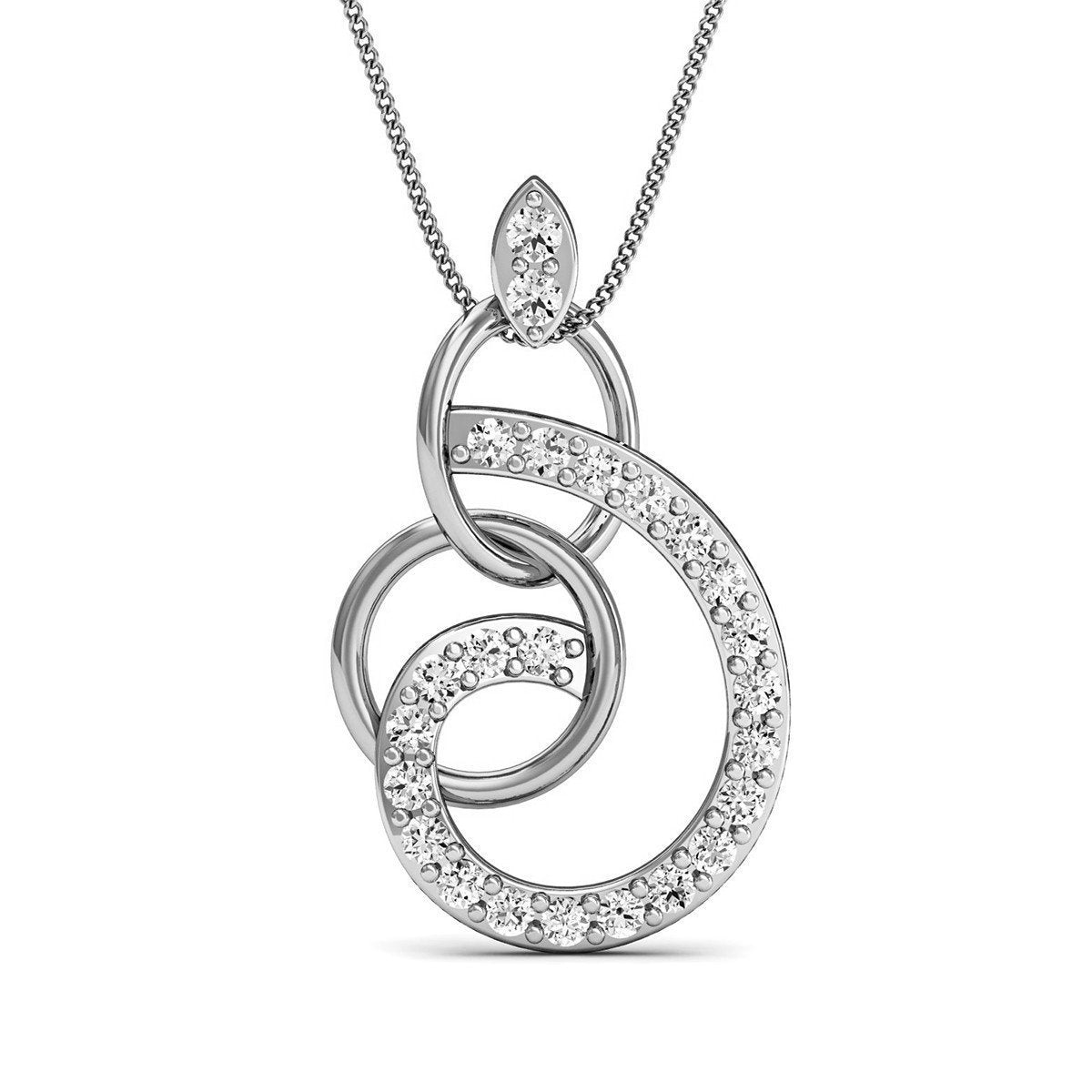 Diamoire Jewels Diamoire 18kt Rose Gold Diamond Pendant Inspired by Nature q1myMsB5op