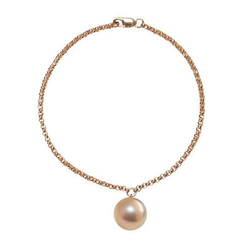 Alba Pearl Bracelet - Pink And Gold-Bracelets-ORA Pearls-JewelStreet