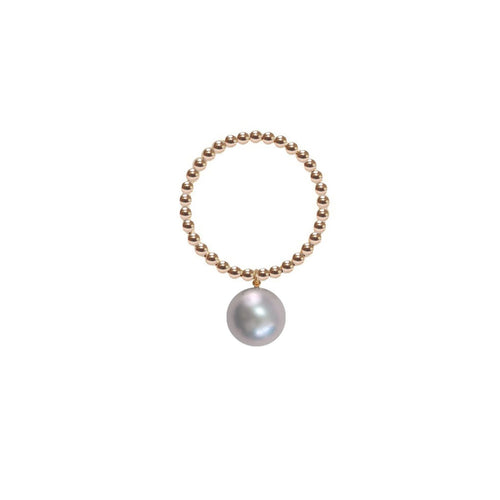 Orb Ring - Grey Pearl - Gold-Rings-ORA Pearls-JewelStreet