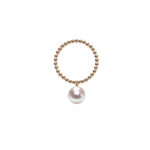 Orb Ring - White Pearl - Gold-Rings-ORA Pearls-JewelStreet