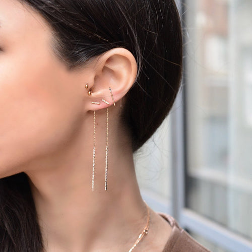 Charlotte Triangle Ear Cuff-Earrings-Jezebel London-JewelStreet