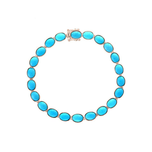 14kt Rose Gold Turquoise Bracelet ,[product vendor],JewelStreet