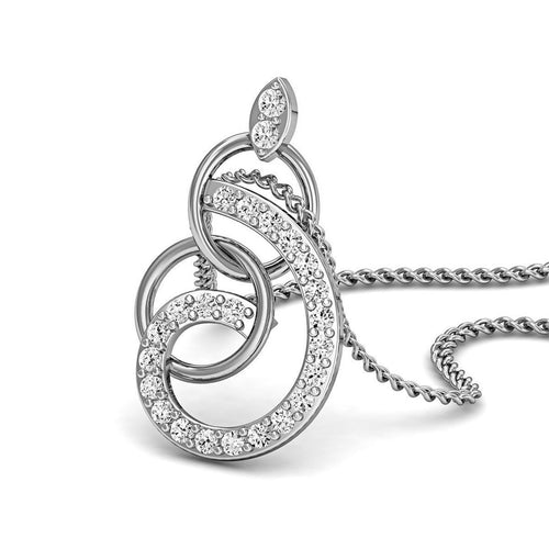 14kt White Gold and Diamonds Nature Inspired Luxe Pave Earrings-Necklaces-Diamoire Jewels-JewelStreet