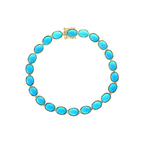 14kt Yellow Gold Turquoise Bracelet ,[product vendor],JewelStreet