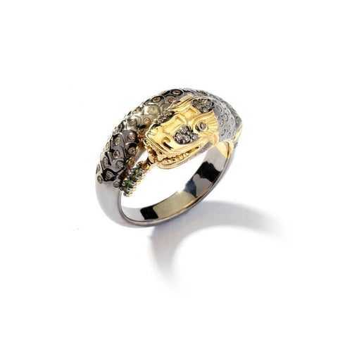 18kt 925 Snake Ring-Rings-Syna-JewelStreet
