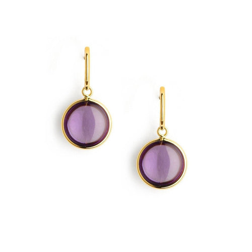 18kt Amethyst Chakra Earrings-Earrings-Syna-JewelStreet