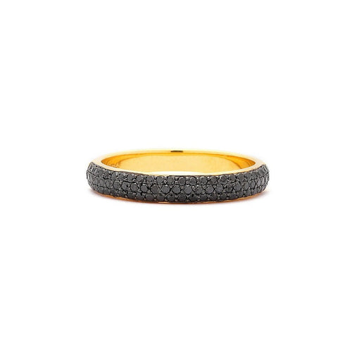 18kt Black Diamond Pave Band-Rings-Syna-JewelStreet
