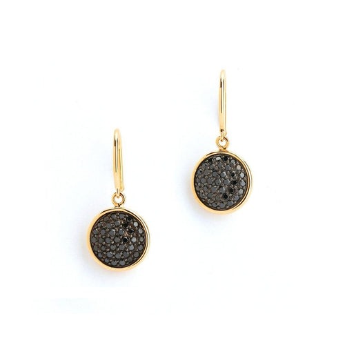18kt Black Diamond Pave Chakra Earrings-Earrings-Syna-JewelStreet