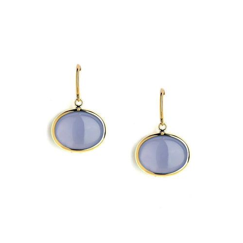 18kt Blue Chalcedony Cobblestone Earrings-Earrings-Syna-JewelStreet