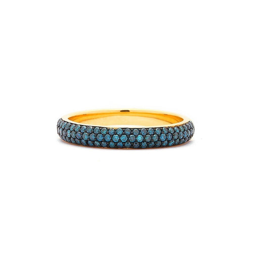 18kt Blue Diamond Pave Band-Rings-Syna-JewelStreet