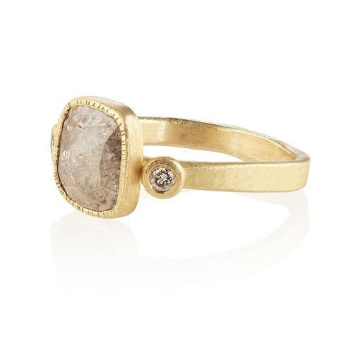 18kt Chrissie Fairtrade Gold Engagement Ring-Rings-Shakti Ellenwood-JewelStreet