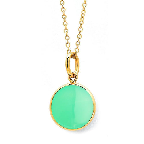 18kt Chrysoprase Chakra Necklace-Necklaces-Syna-JewelStreet