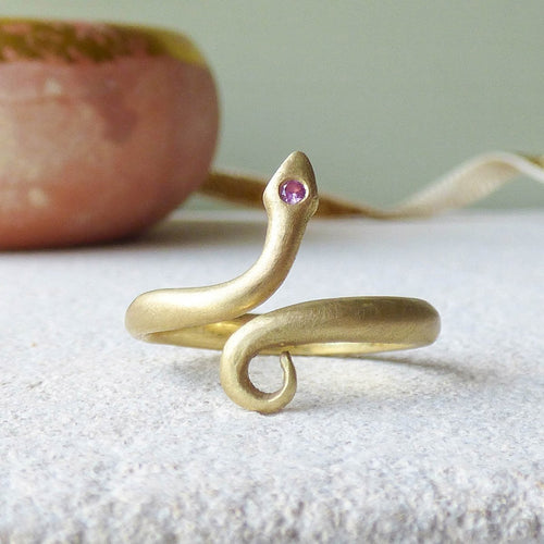 18kt Chumana Pinkie Or Toe Ring-Rings-Shakti Ellenwood-JewelStreet