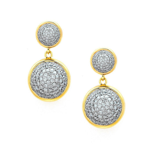 18kt Diamond Bauble Earrings-Earrings-Syna-JewelStreet